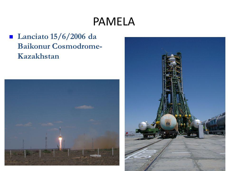 PAMELA 23 Lanciato 15/6/2006 da Baikonur Cosmodrome- Kazakhstan