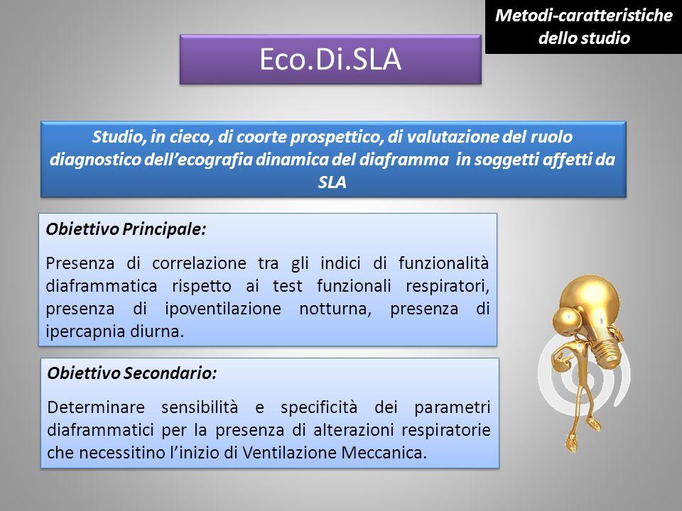 Eco.Di.SLA Studio, in cieco, di coorte prospettico, di valutazione del ruolo diagnostico dell'ecografia dinamica del diaframma in soggetti affetti da