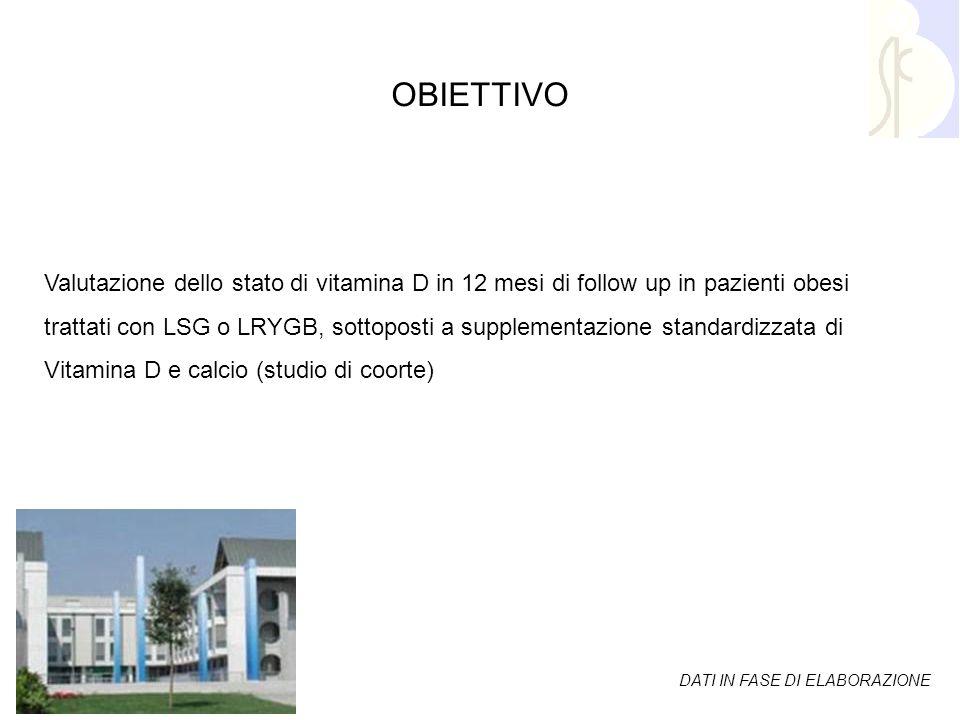 Bibliografia1 Valutazione dello stato di vitamina D in 12 mesi di follow up in pazienti obesi trattati con LSG o LRYGB, sottoposti a supplementazione