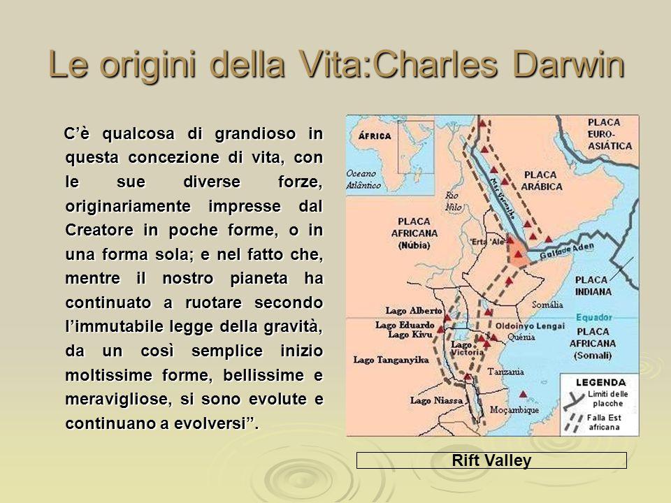 Le origini della Vita:Charles Darwin C'è qualcosa di grandioso in questa concezione di vita, con le sue diverse forze, originariamente impresse dal Cr