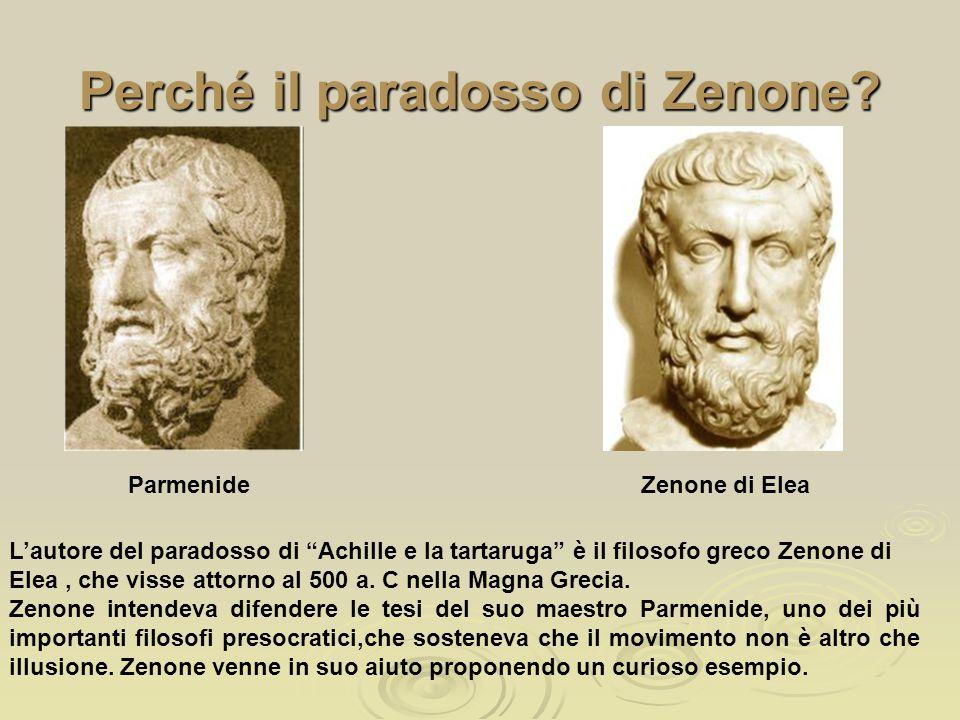 """Perché il paradosso di Zenone? Parmenide L'autore del paradosso di """"Achille e la tartaruga"""" è il filosofo greco Zenone di Elea, che visse attorno al 5"""