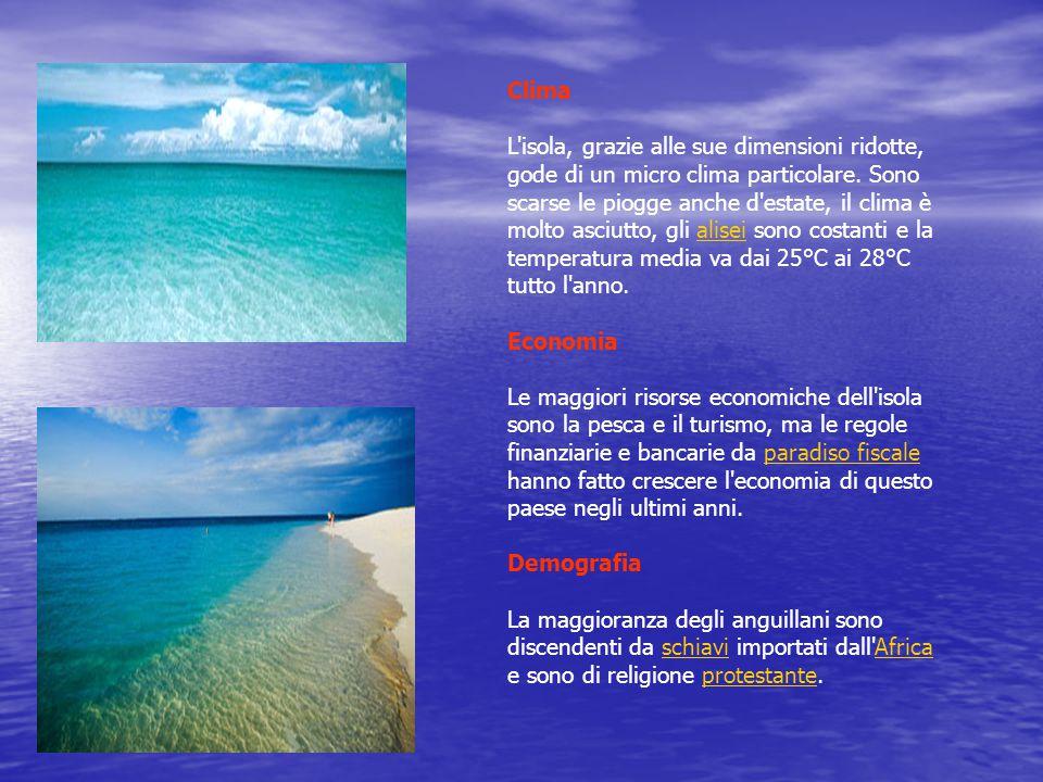 Clima L isola, grazie alle sue dimensioni ridotte, gode di un micro clima particolare.