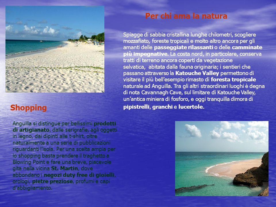 Per chi ama la natura Spiagge di sabbia cristallina lunghe chilometri, scogliere mozzafiato, foreste tropicali e molto altro ancora per gli amanti delle passeggiate rilassanti o delle camminate più impegnative.