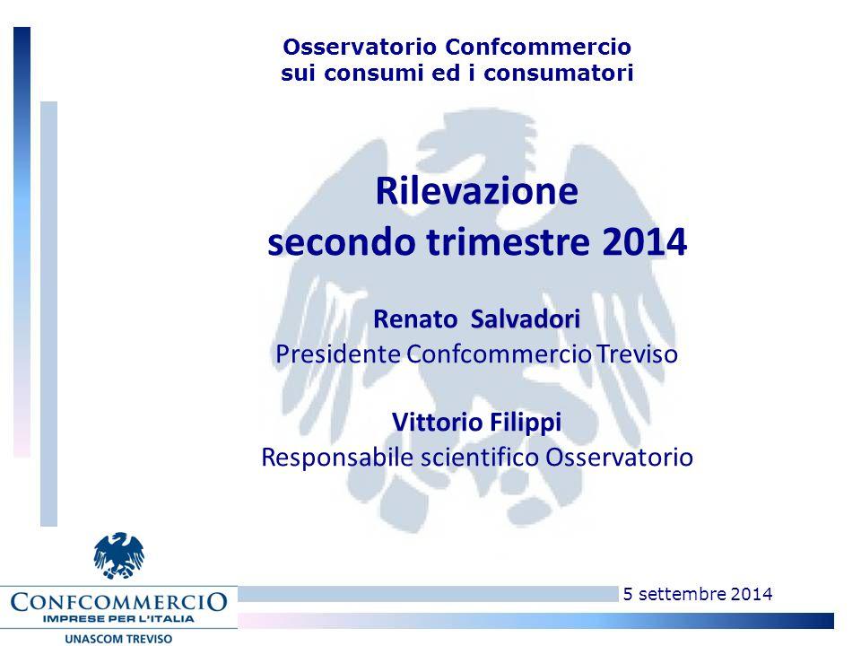 5 settembre 2014 Osservatorio Unascom sui consumi e i consumatori Dove siamo.