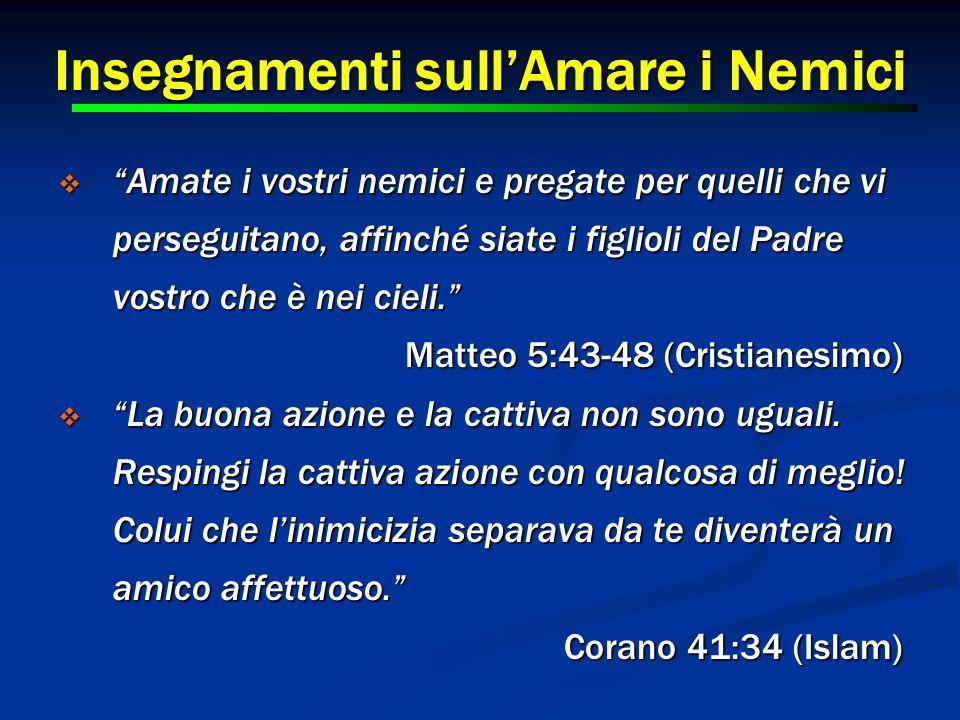 """14 Insegnamenti sull'Amare i Nemici  """"Amate i vostri nemici e pregate per quelli che vi perseguitano, affinché siate i figlioli del Padre vostro che"""