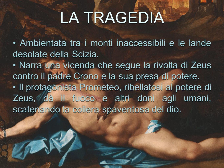 PRODIGI SCENICI Apparentemente Prometeo Incatenato è un dramma statico poiché non ha azione.