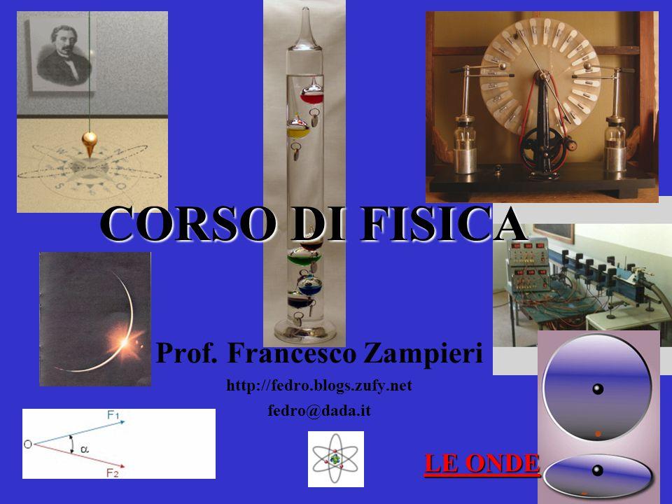 CORSO DI FISICA Prof. Francesco Zampieri http://fedro.blogs.zufy.net fedro@dada.it LE ONDE