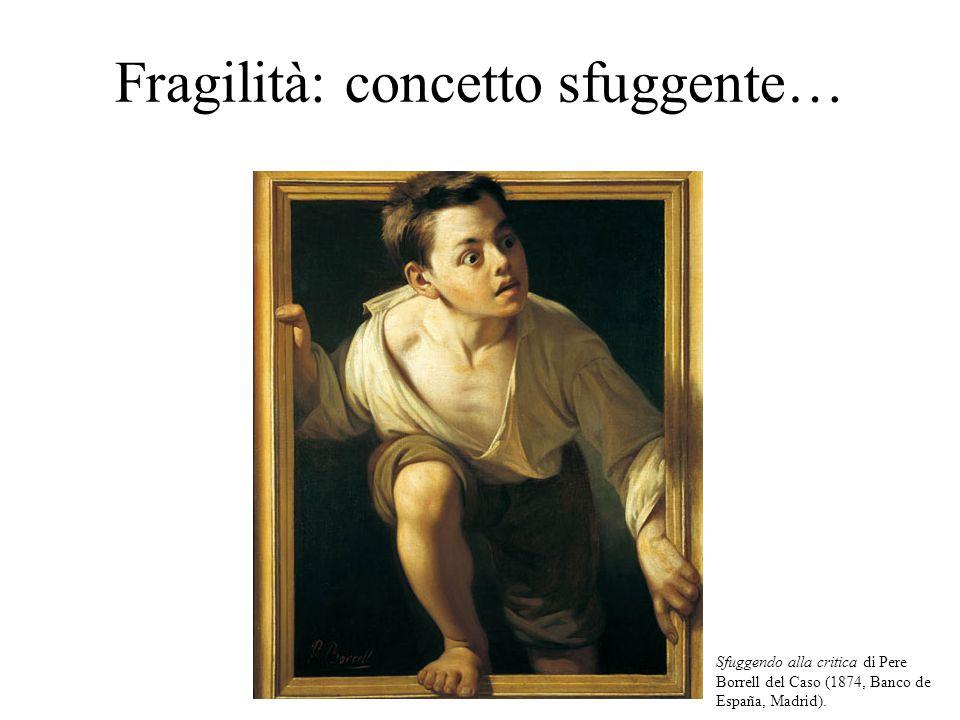 Fragilità: concetto sfuggente… Sfuggendo alla critica di Pere Borrell del Caso (1874, Banco de España, Madrid).