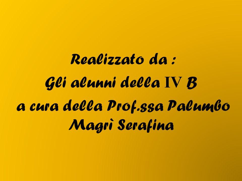 Realizzato da : Gli alunni della IV B a cura della Prof.ssa Palumbo Magrì Serafina