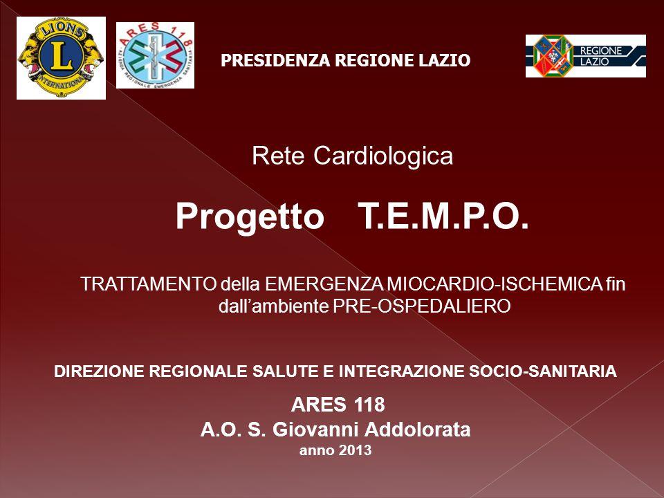 Dati di attività Centrale Operativa 118 di Roma - anno 2012 Interventi di soccorso per dolore toracico n.