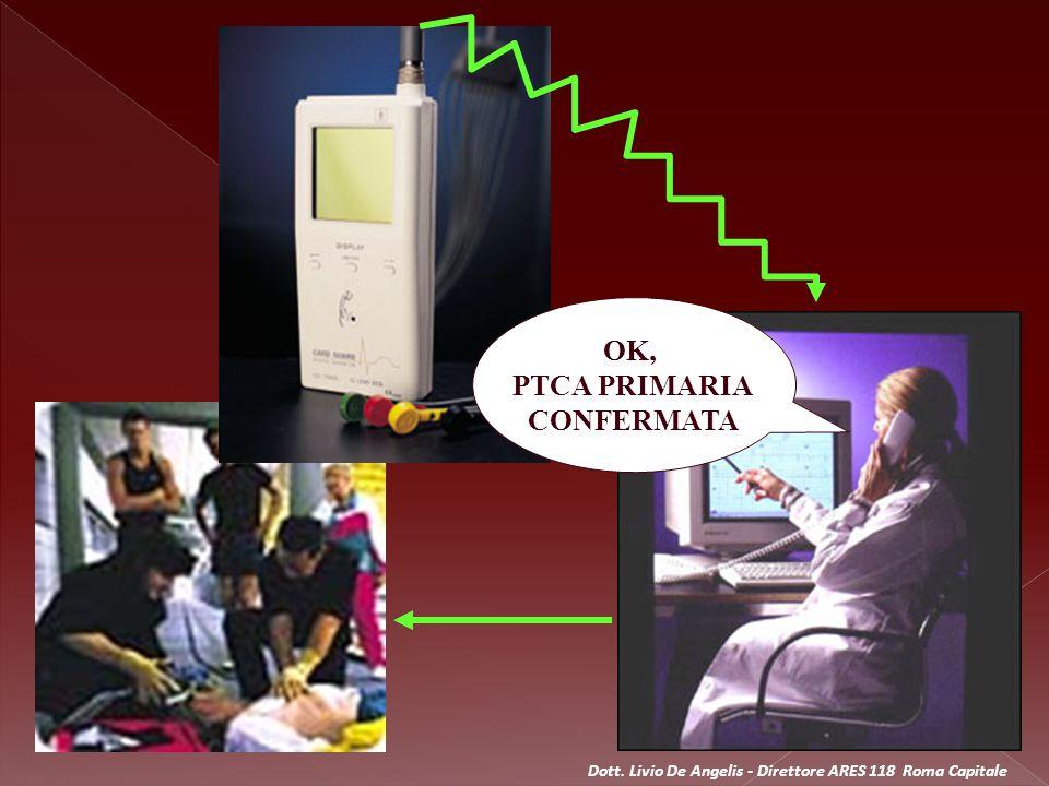 SI COLLEGA IN TELECONFERENZA CON LA C.O.118 ED IL MEZZO DI SOCCORSO ENTRO 5 MIN.