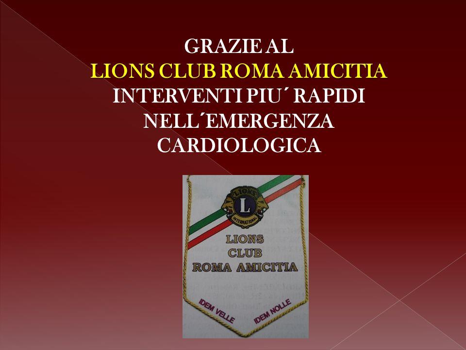 Il Lions Club Roma Amicitia ha dato un contributo concreto al progetto T.E.M.P.O.