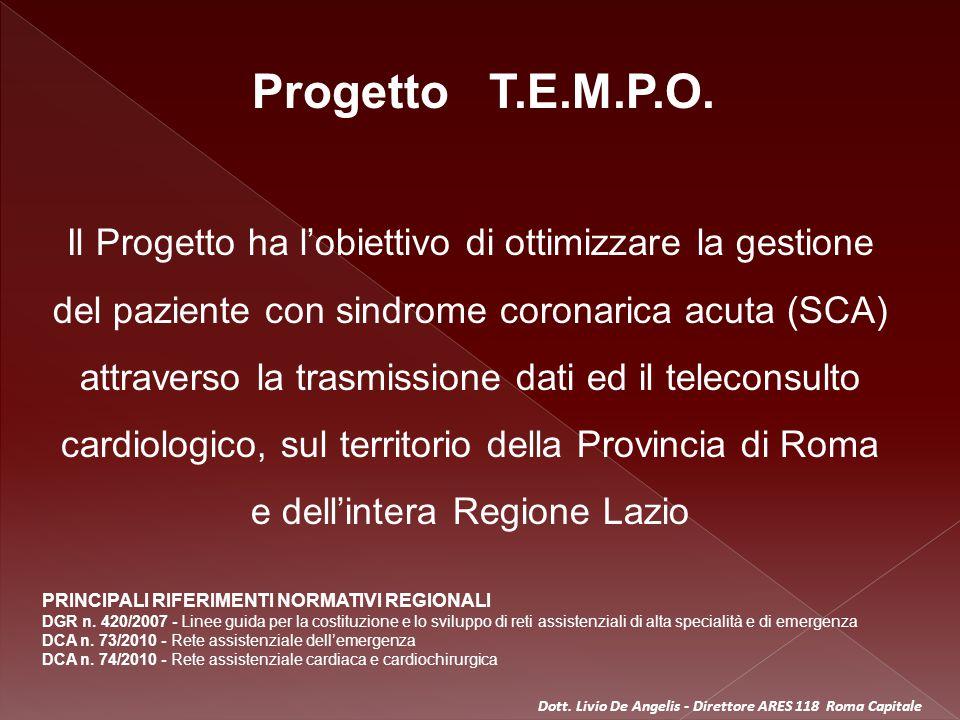 OK, PTCA PRIMARIA CONFERMATA Dott. Livio De Angelis - Direttore ARES 118 Roma Capitale