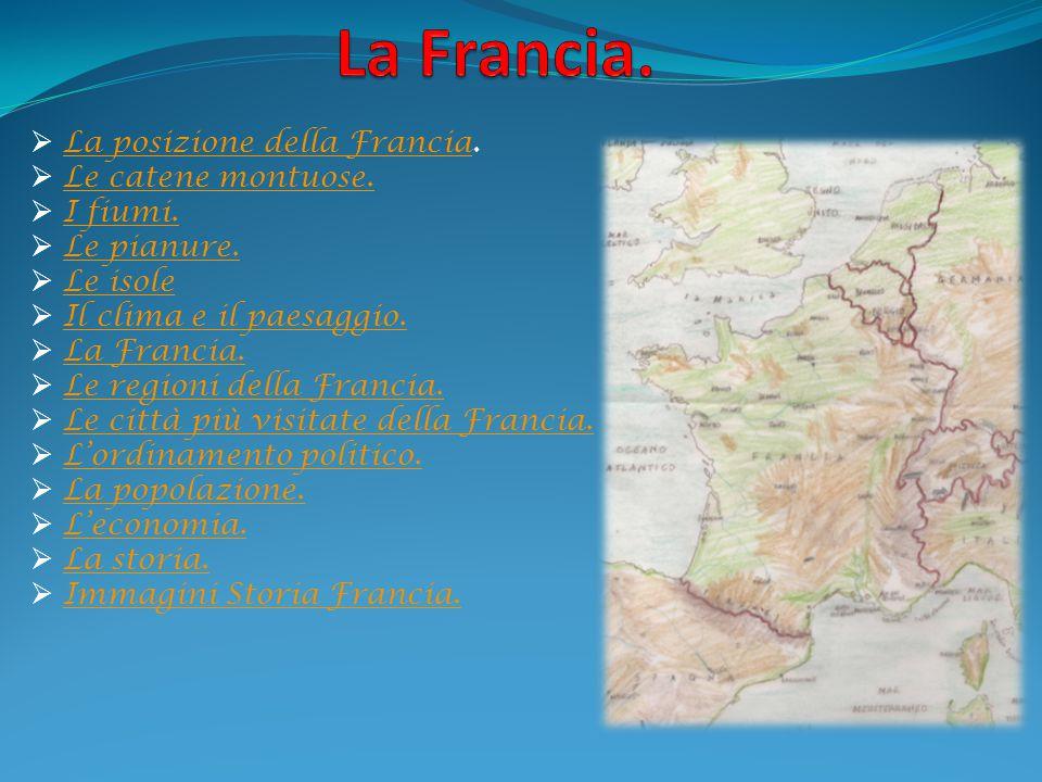  La posizione della Francia. La posizione della Francia  Le catene montuose. Le catene montuose.  I fiumi. I fiumi.  Le pianure. Le pianure.  Le