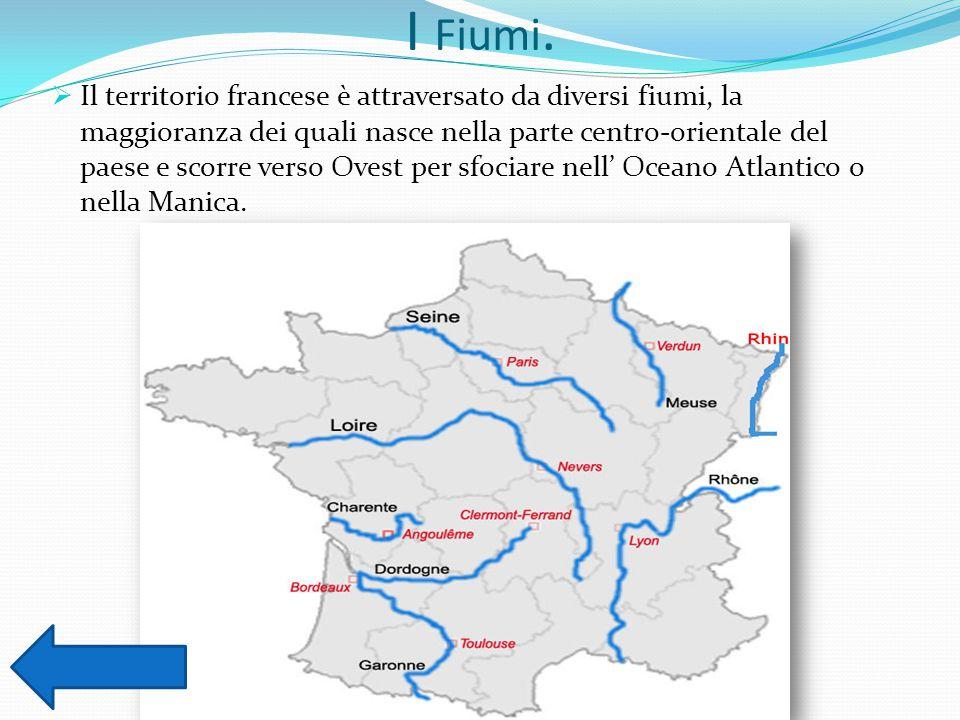 I Fiumi.  Il territorio francese è attraversato da diversi fiumi, la maggioranza dei quali nasce nella parte centro-orientale del paese e scorre vers