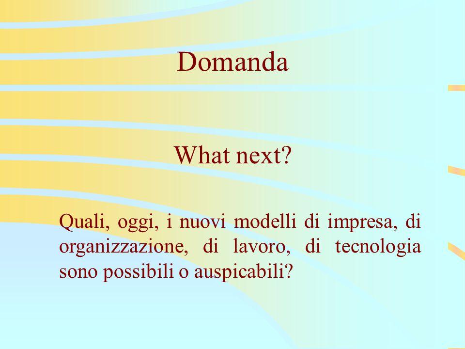 Domanda What next.