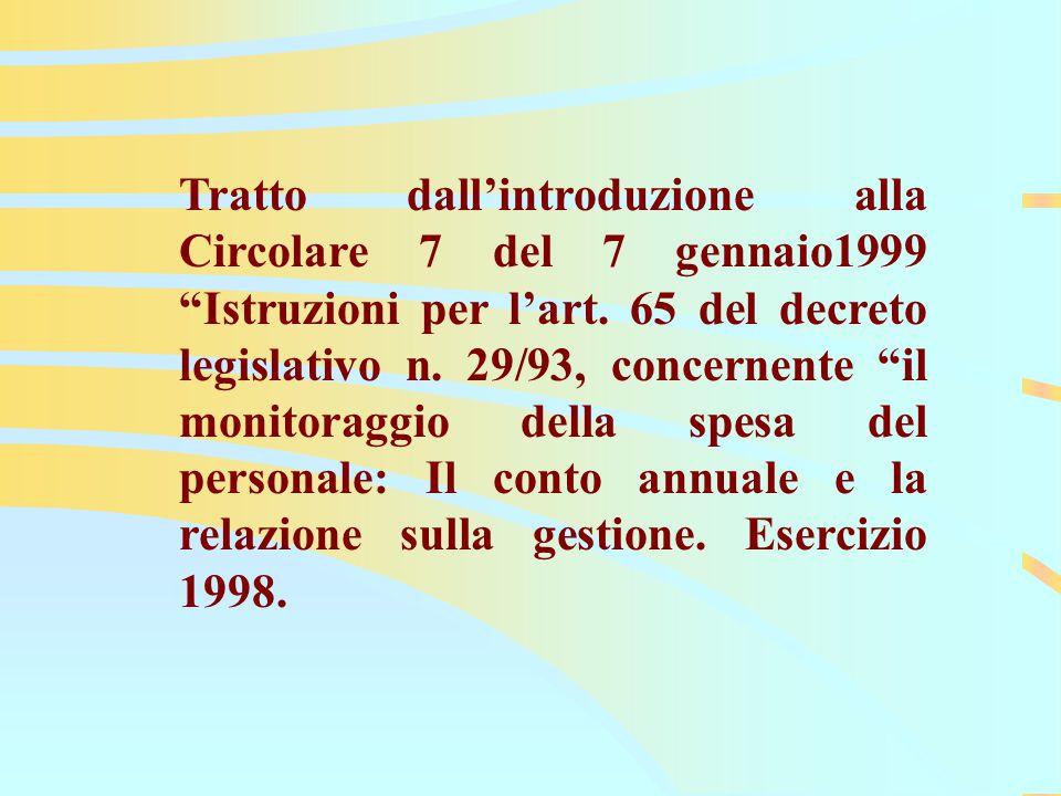 EA 2001 Tratto dall'introduzione alla Circolare 7 del 7 gennaio1999 Istruzioni per l'art.