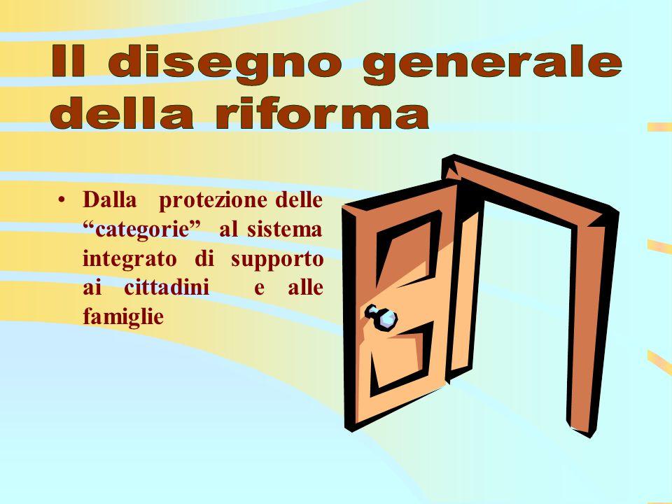 Dalla protezione delle categorie al sistema integrato di supporto ai cittadini e alle famiglie