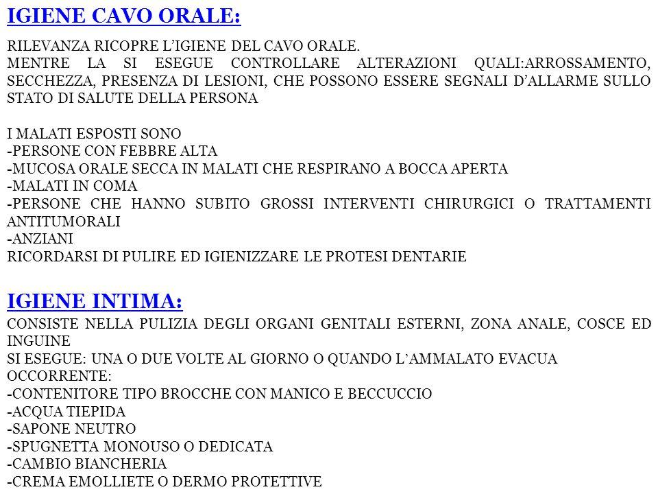 IGIENE CAVO ORALE: RILEVANZA RICOPRE L'IGIENE DEL CAVO ORALE.