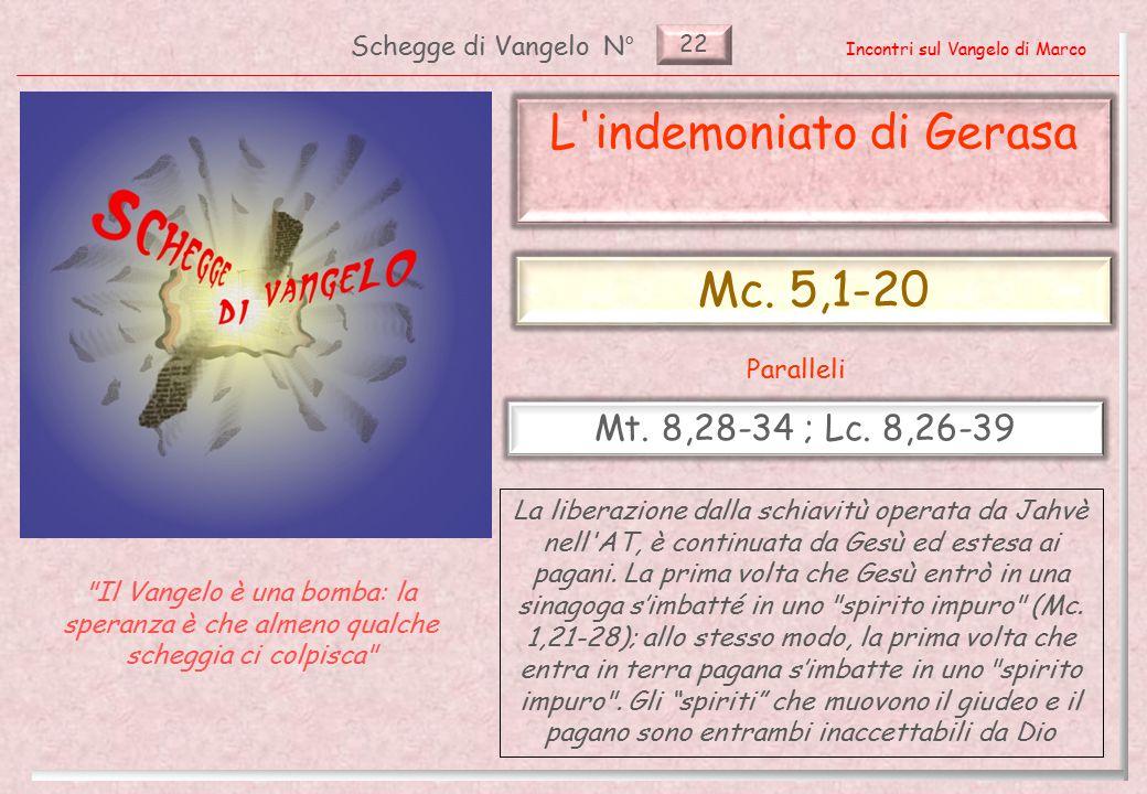 22 Schegge di VangeloN° Incontri sul Vangelo di Marco