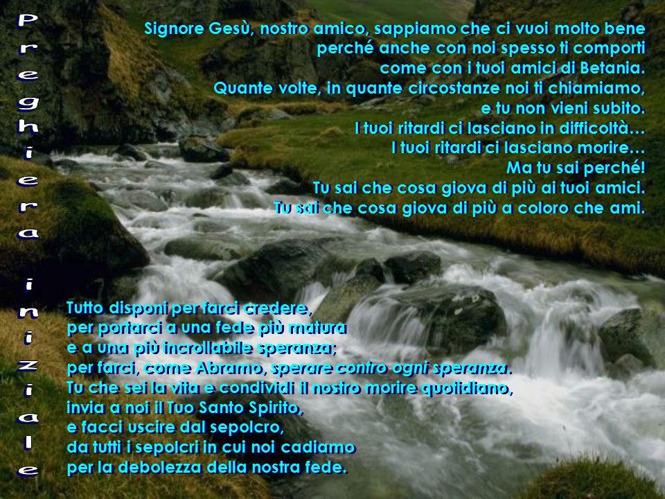 Nelle domeniche III – V: catechesi battesimale centrata su tre passi di Giovanni: III dom.: Cristo Acqua viva (Gv 4,5-42) Dacci acqua da bere (Es 17,3-7) IV dom.: Cristo Luce (Gv 9,1-41) Il Signore guarda il cuore (1 Sam 16,1-13) V dom.: Cristo Vita (Gv 11,1-45) Metterò in voi il mio Spirito (Ez 37,12-14) Nelle domeniche III – V: catechesi battesimale centrata su tre passi di Giovanni: III dom.: Cristo Acqua viva (Gv 4,5-42) Dacci acqua da bere (Es 17,3-7) IV dom.: Cristo Luce (Gv 9,1-41) Il Signore guarda il cuore (1 Sam 16,1-13) V dom.: Cristo Vita (Gv 11,1-45) Metterò in voi il mio Spirito (Ez 37,12-14)
