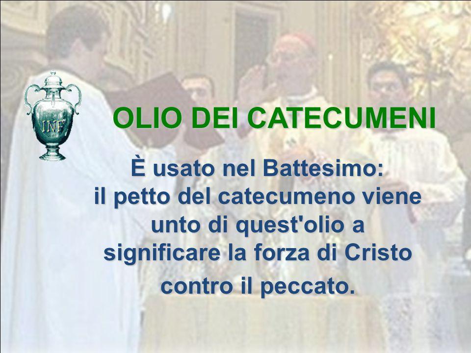 Olio profumato che viene usato per i sacramenti del Battesimo, della Confermazione e dell'Ordine. IL CRISMA