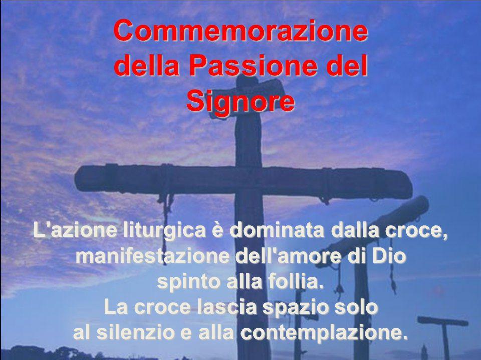 In questo giorno la comunità cristiana non celebra l'Eucaristia perché il clima di festa non si addice all'evento. VENERDÌ SANTO