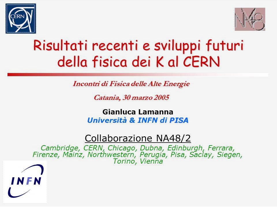 30.03.2005Gianluca Lamanna – IFAE 200532 Confronto con esperimenti precedenti