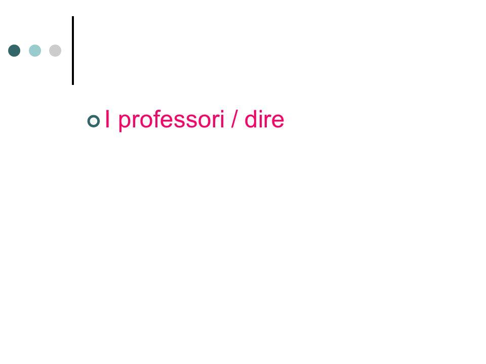 I professori / dire