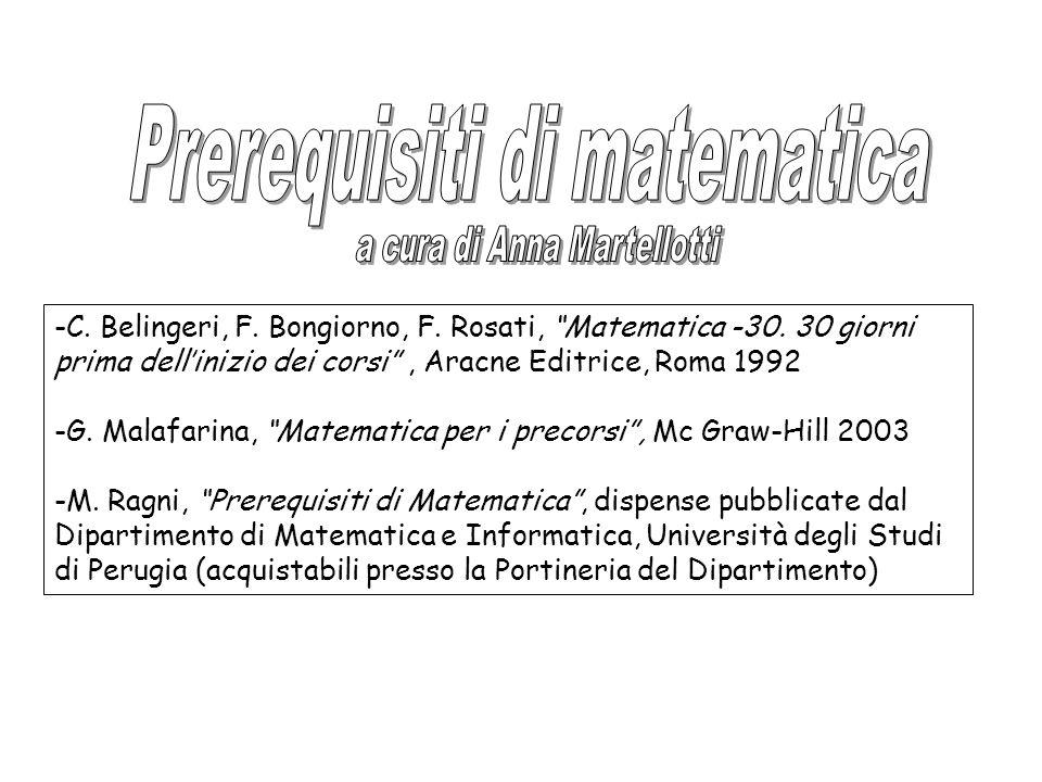 -C. Belingeri, F. Bongiorno, F. Rosati, Matematica -30.