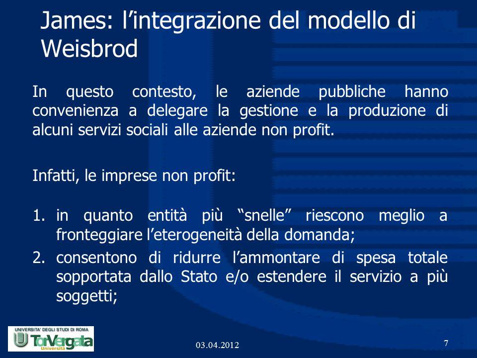 In questo contesto, le aziende pubbliche hanno convenienza a delegare la gestione e la produzione di alcuni servizi sociali alle aziende non profit.