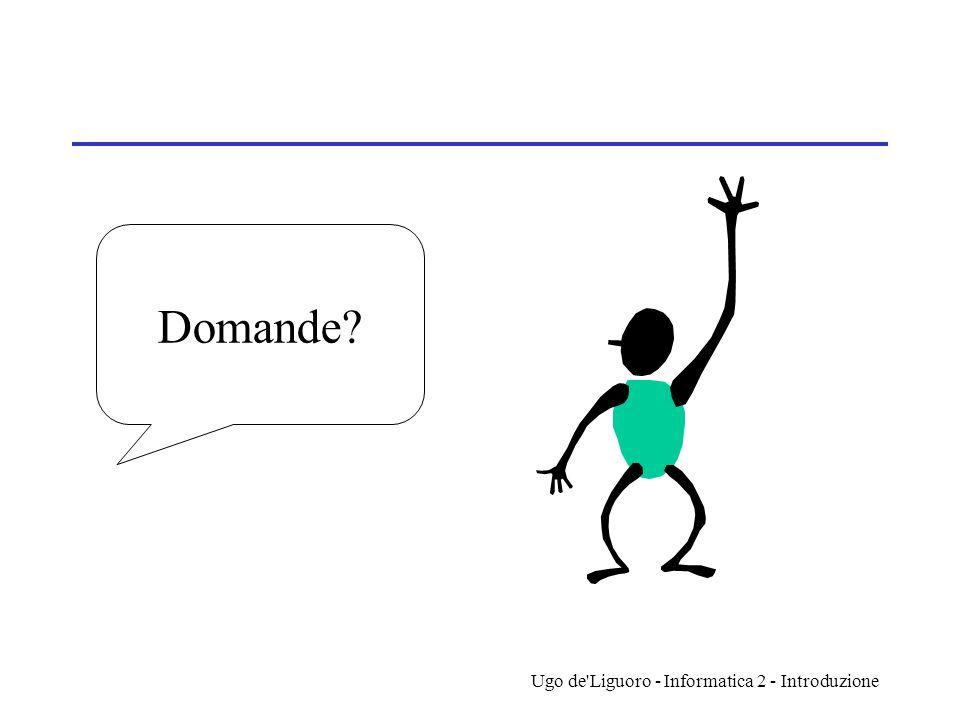 Ugo de'Liguoro - Informatica 2 - Introduzione Domande?