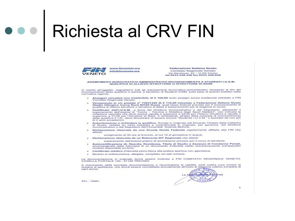 Richiesta al CRV FIN