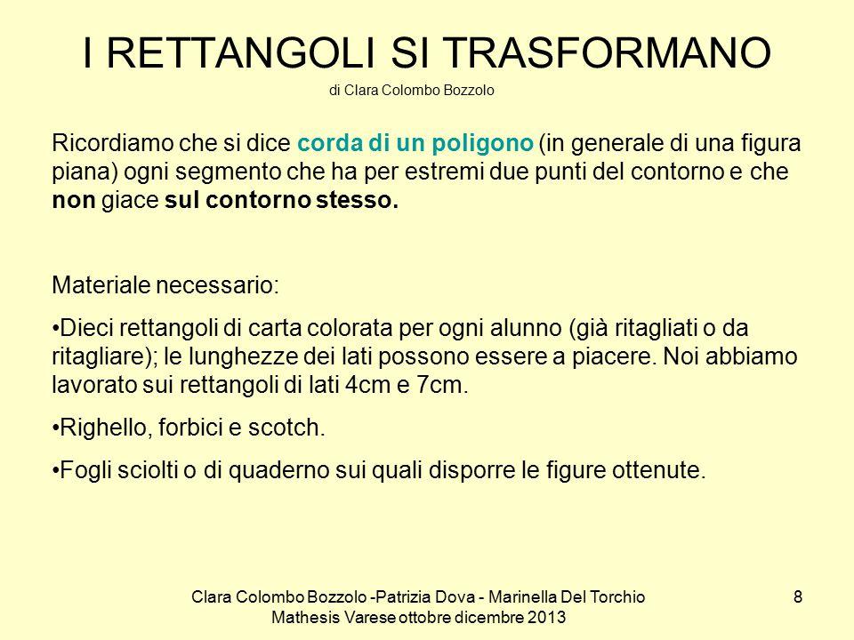 Clara Colombo Bozzolo -Patrizia Dova - Marinella Del Torchio Mathesis Varese ottobre dicembre 2013 19 I triangoli prepotenti (da Nel mondo della matematica vol.2 a cura di C.