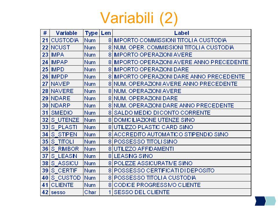 Variabili (2)