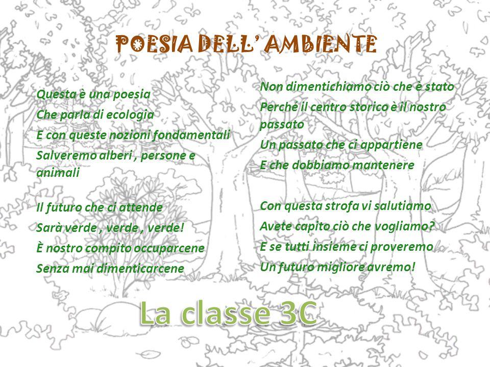 POESIA DELL' AMBIENTE Questa è una poesia Che parla di ecologia E con queste nozioni fondamentali Salveremo alberi, persone e animali Il futuro che ci attende Sarà verde, verde, verde.