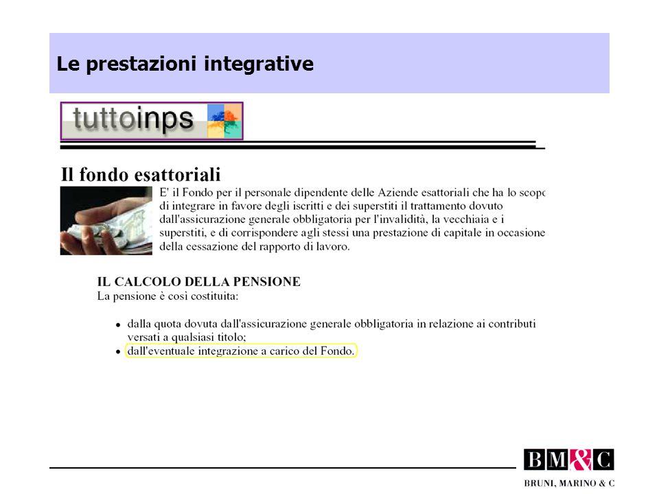Le prestazioni integrative
