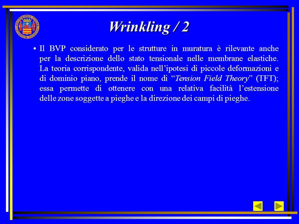 Il BVP considerato per le strutture in muratura è rilevante anche per la descrizione dello stato tensionale nelle membrane elastiche.