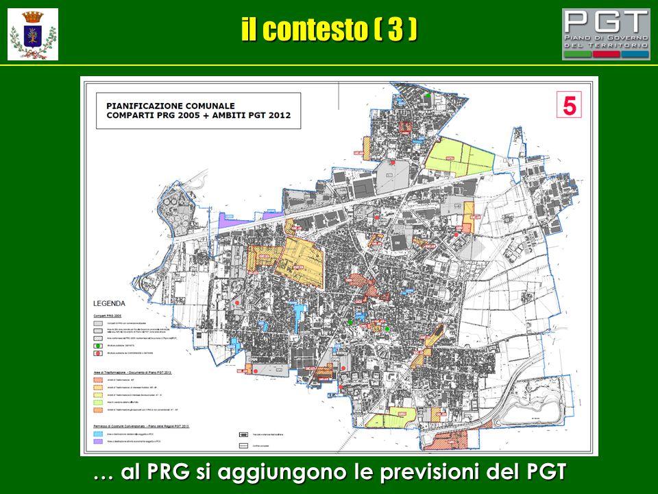 il contesto ( 3 ) … al PRG si aggiungono le previsioni del PGT