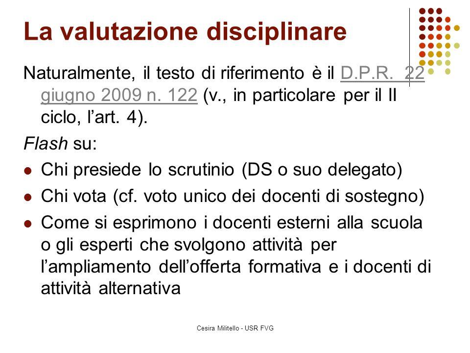 La valutazione dell'IRC La valutazione dei periodi di alternanza scuola-lavoro – cf.