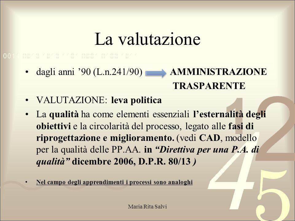 Circolare 89/2012 Sintesi valutativa  Pluralità di prove di verifica, riconducibili a diverse tipologie, coerenti con le strategie metodologico-didattiche adottate dai docenti.