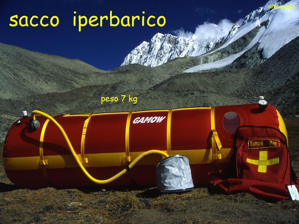 Commissione Centrale Medica Club Alpino Italiano peso 7 kg alta quota sacco iperbarico