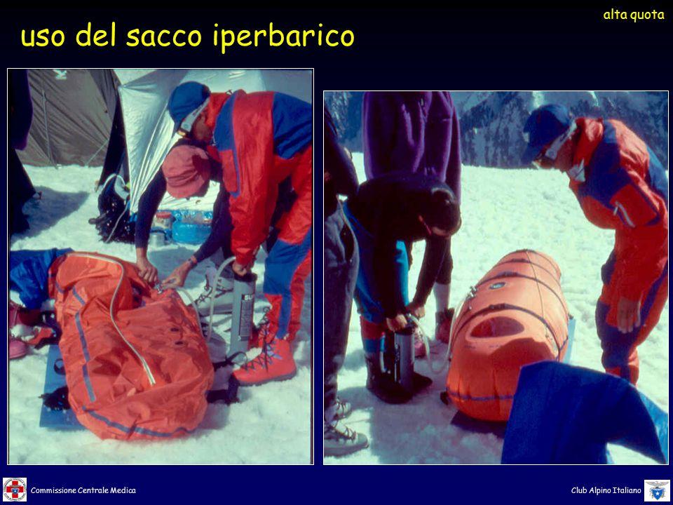 Commissione Centrale Medica Club Alpino Italiano uso del sacco iperbarico alta quota