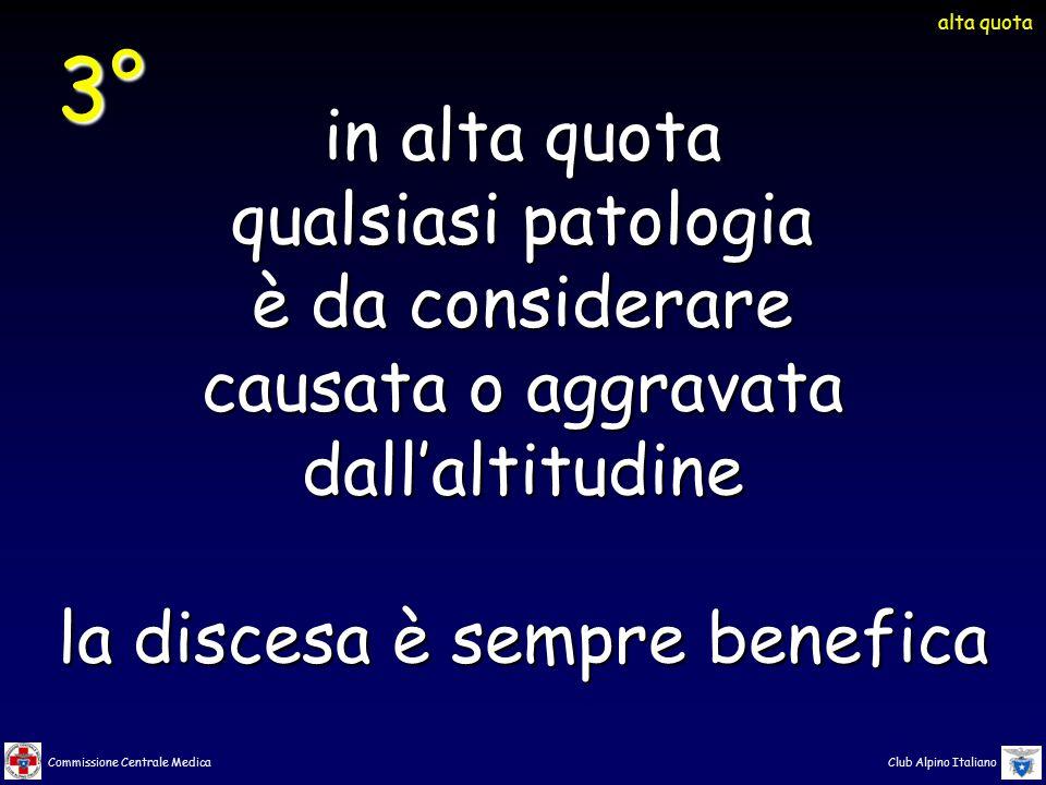 Commissione Centrale Medica Club Alpino Italiano in alta quota qualsiasi patologia è da considerare causata o aggravata dall'altitudine la discesa è s
