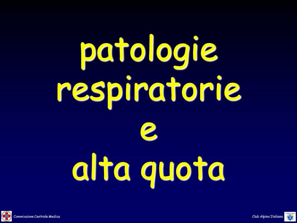 Commissione Centrale Medica Club Alpino Italiano patologierespiratoriee alta quota