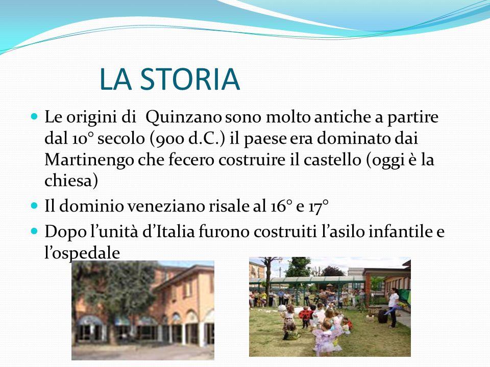 Le origini di Quinzano sono molto antiche a partire dal 10° secolo (900 d.C.) il paese era dominato dai Martinengo che fecero costruire il castello (o
