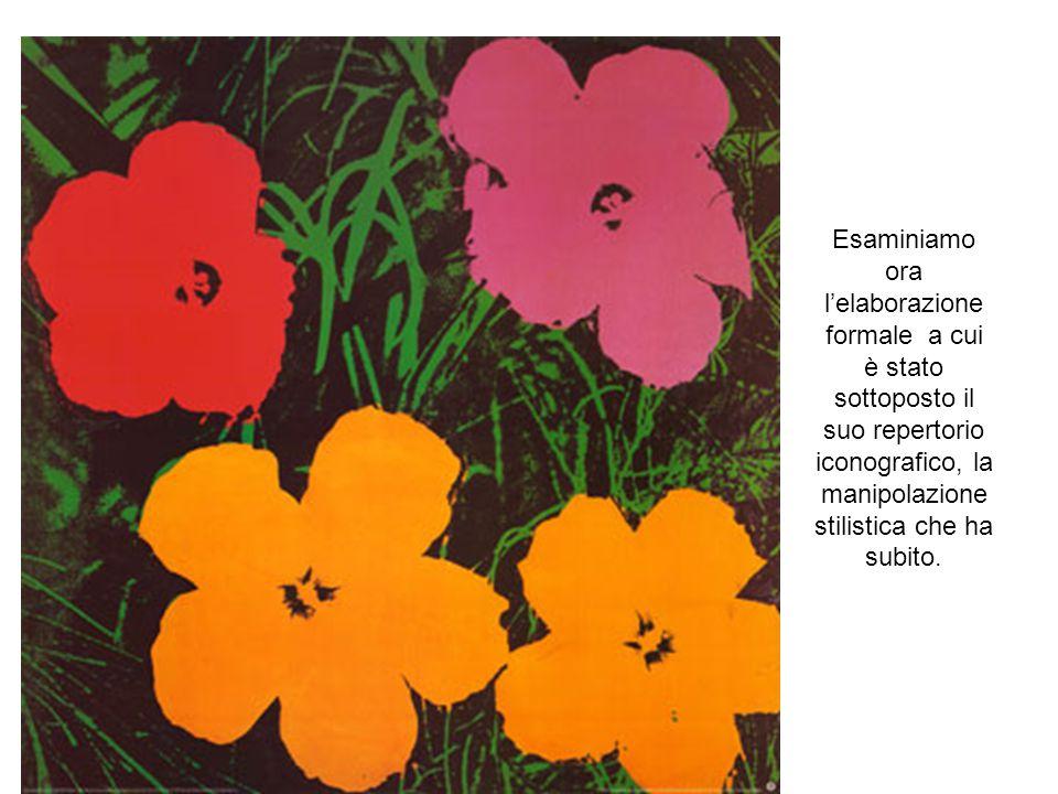 Warhol rifà le immagini che stanno sotto gli occhi di tutti per sottrarle all'indifferenza, all'invisibilità e renderle tanto visibili da farcele cono