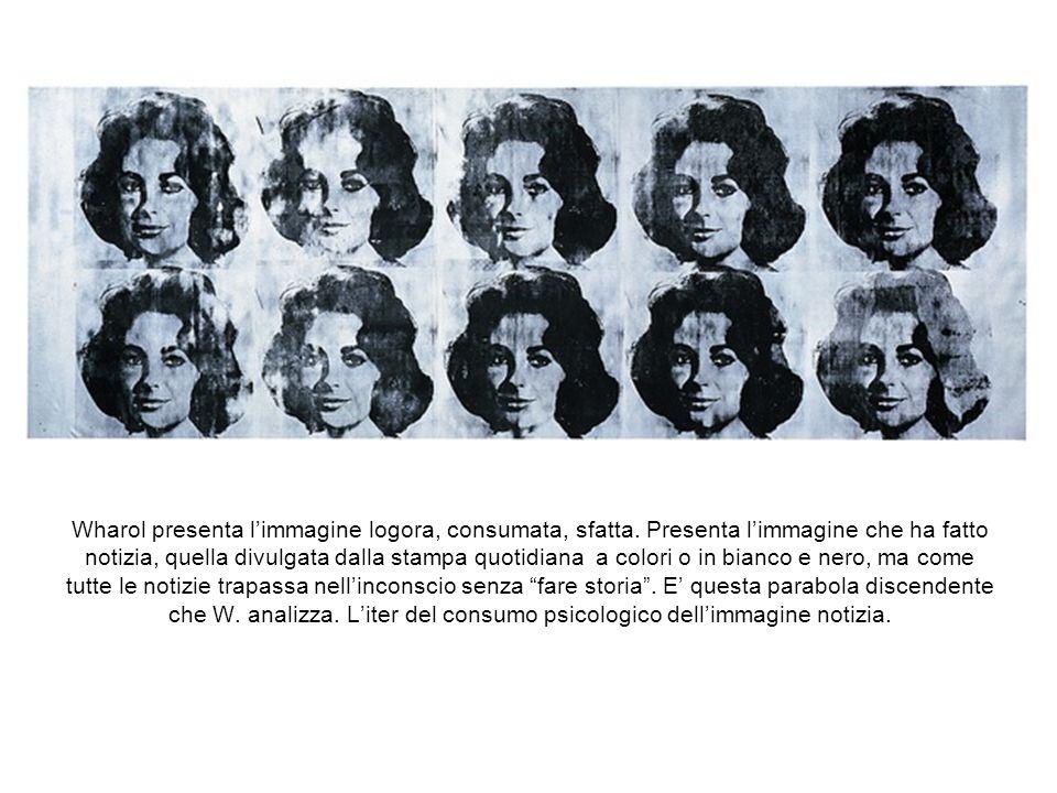 E' possibile ritrovare nell'opera di Warhol un dato nichilista di fondo. In effetti prerogativa delle immagini meccanicamente riprodotte a cui egli at