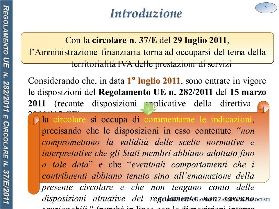 Soggettività passiva 13 SOGGETTIVITÀ PASSIVA La circolare n.