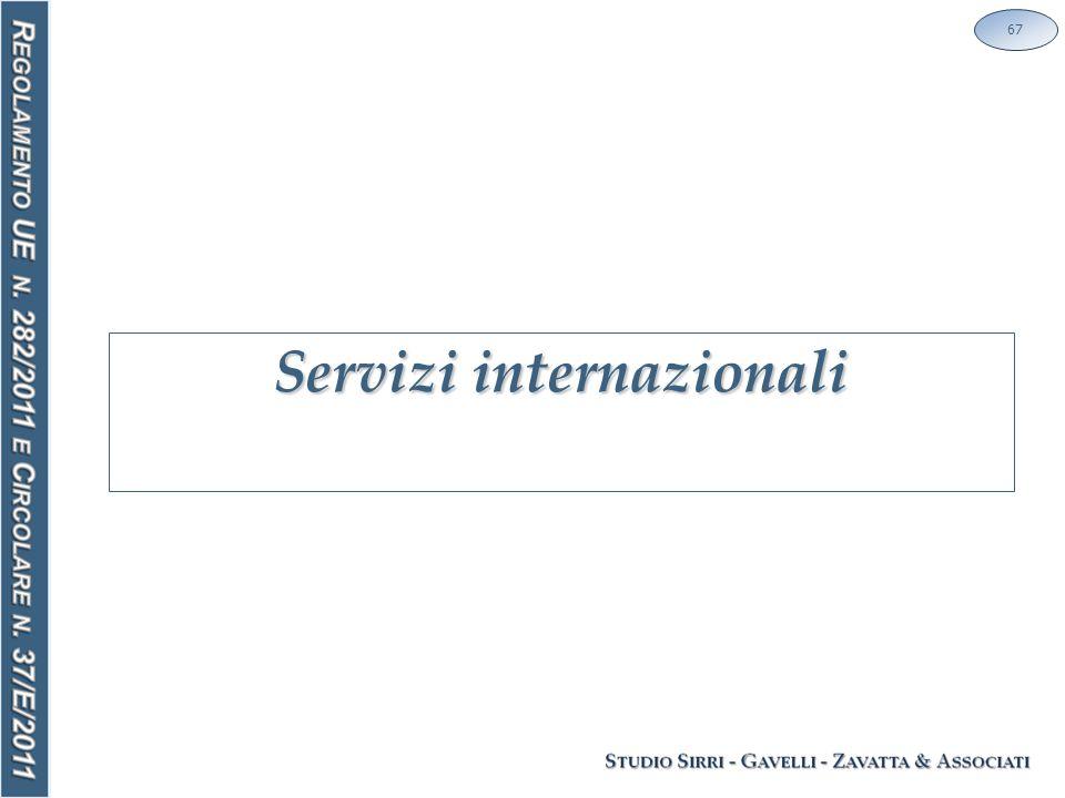 Servizi internazionali 67